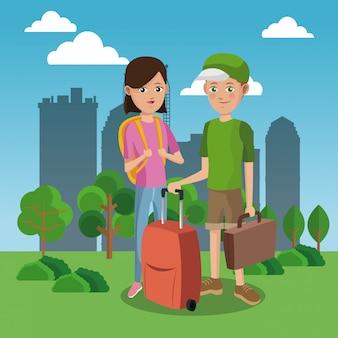 Turyści w mieście