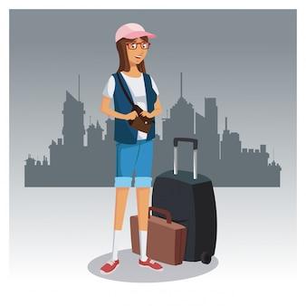 Turysta w mieście