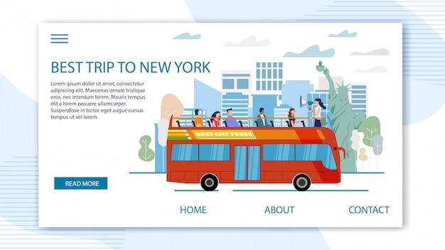 Turystyczna wycieczka do szablonu sieci stanów zjednoczonych