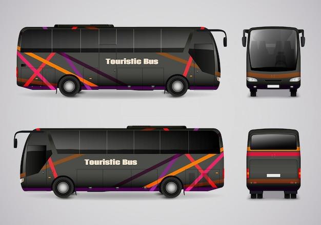 Turystyczny autobus ze wszystkich stron