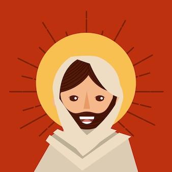 Twarz jesus christ religijny katolik