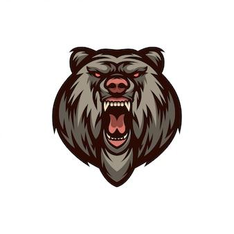 Twarz niedźwiedzia z logo