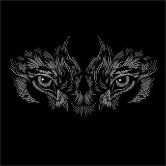 Twarz psa lub wilka