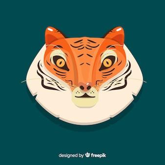 Twarz tygrys tło