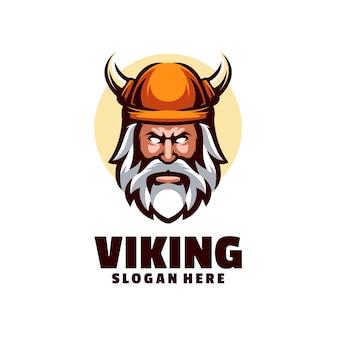Twarz wojownika wikingów to logo jest idealne dla firm, które chcą reprezentować autorytet