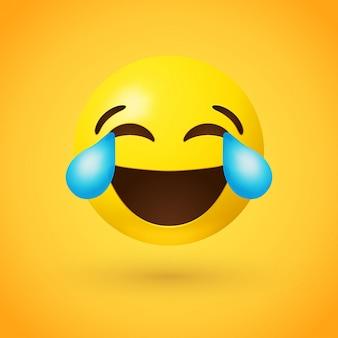 Twarz ze łzami radości emoji