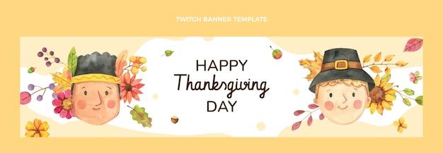 Twitch banner akwarelowy na święto dziękczynienia