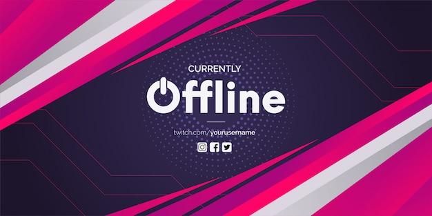 Twitch offline z abstrakcyjnymi kształtami