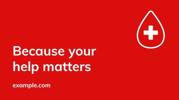 Twoja pomoc ma znaczenie szablon baner reklamowy wektor zdrowia charytatywnego