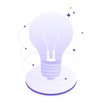 Twórcze myślenie i burza mózgów, opowiedz o swoim pomyśle. innowacje biznesowe. nowoczesne mieszkanie ilustracja