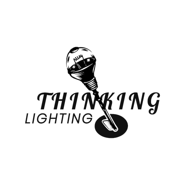 Twórcze myślenie i nowy pomysł wektor