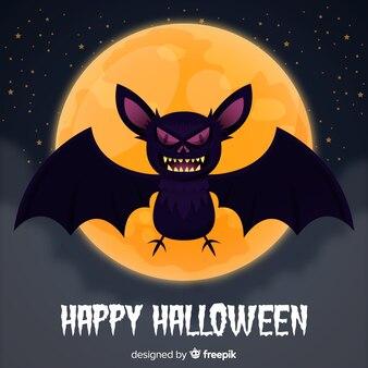 Twórcze tło nietoperza halloween