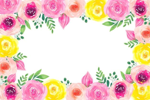 Twórczy akwarela tapetą z motywem kwiatowym