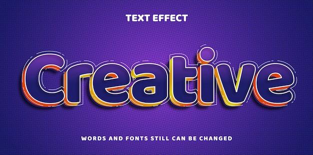 Twórczy edytowalny tekst z efektem gradientu