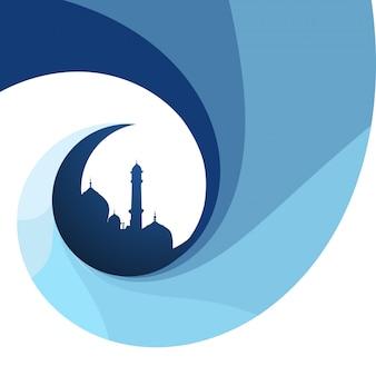 Twórczy islamski festiwal wzór tła