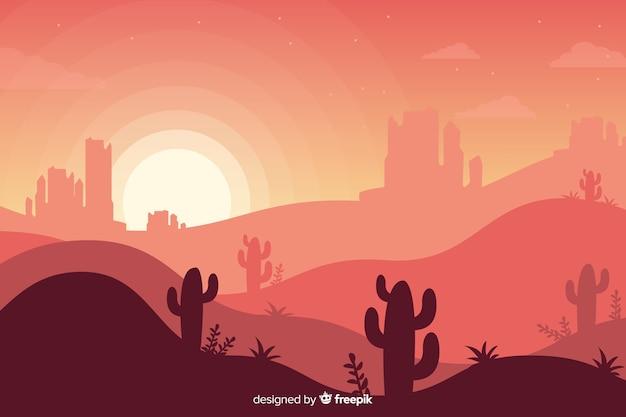 Twórczy krajobraz pustyni