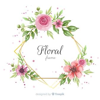 Twórczy kwiatowy rama