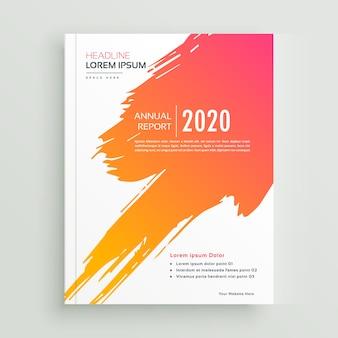 Twórczy pomarańczowy farby projekt broszury