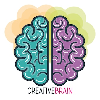 Twórczy profil i mózgu wektor ilustracja projektu