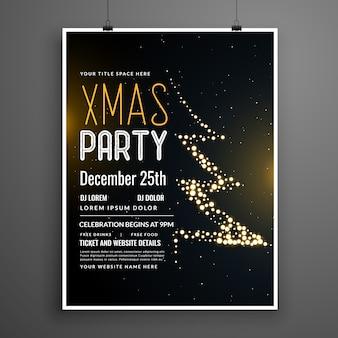 Twórczy projekt plakatu świątecznego party w kolorze czarnym
