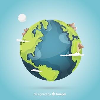 Twórczy projekt ziemi z kosmosu