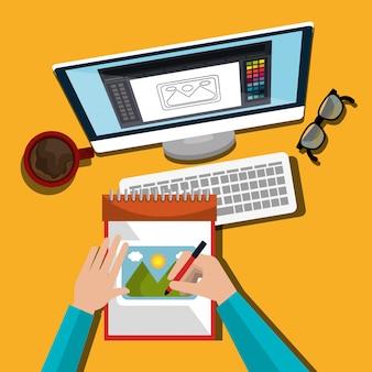 Twórczy projektant graficzny