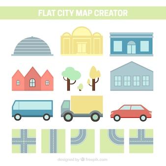 Tworzenie miasta płaski styl