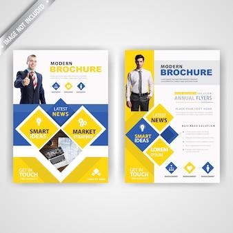 Tył i stylowa broszura