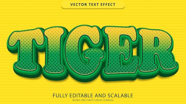Tygrys efekt tekstowy edytowalny plik eps