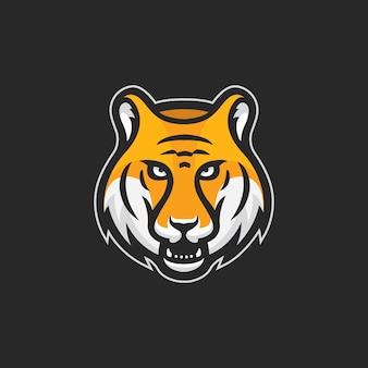 Tygrys głowa esport logo wektor