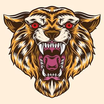 Tygrys głowa ilustracja wektorowa