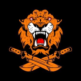 Tygrys głowa ilustracja