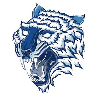 Tygrys głowa wektor ilustracja