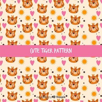 Tygrys i słońce wzór