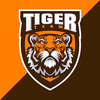 Tygrys maskotka logo sport.