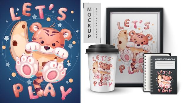Tygrys na księżycu - plakat i merchandising