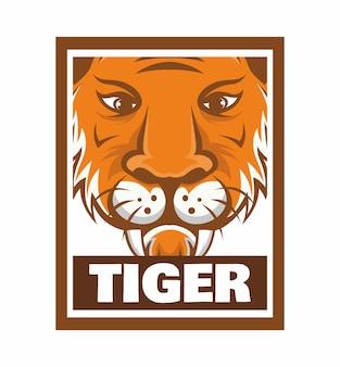 Tygrys rama konstrukcja ilustracja na białym tle