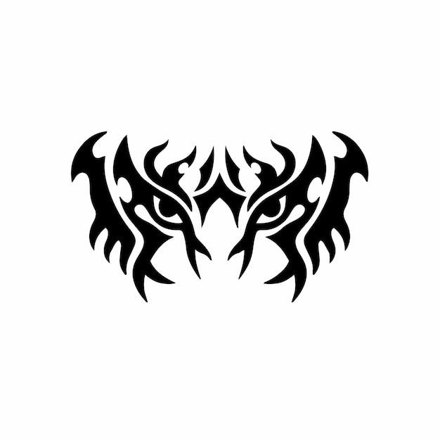 Tygrys symbol logo tribal tattoo design wzornik ilustracji wektorowych