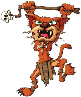 Tygrys szablastozębny - szaman. wektor