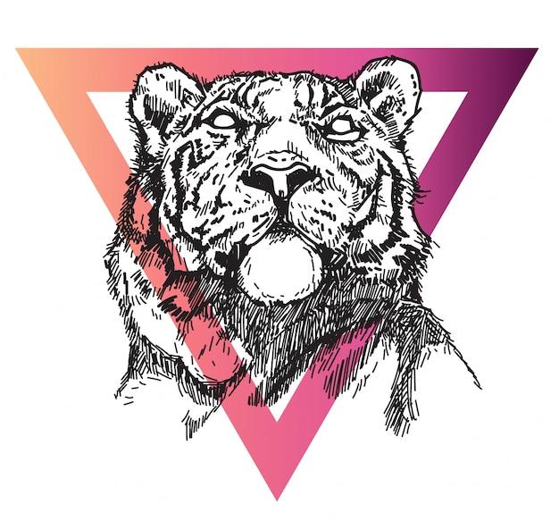 Tygrys tatuaż