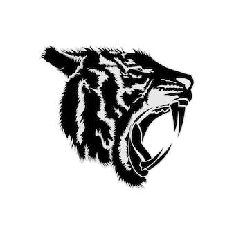 Tygrys twarz głowy wektor plemienny projekt inspiracji