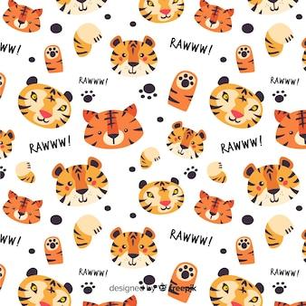 Tygrys wzór tła