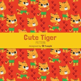 Tygrys z wzorem ubrań