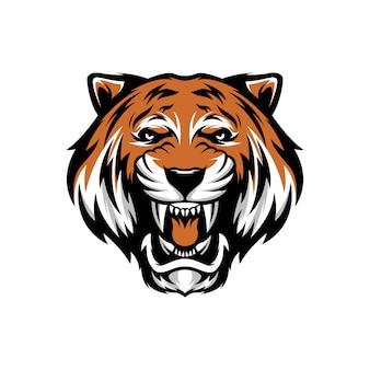 Tygrysia głowa do logo e-sportu