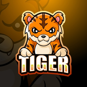 Tygrysia maskotka esport ilustracja
