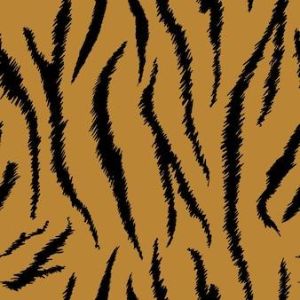 Tygrysia tekstura bezszwowy wzór zwierzęcy. tkanina w paski skóry tygrysa. moda abstrakcyjny wzór wydruku na tapetę, wystrój. ilustracja wektorowa