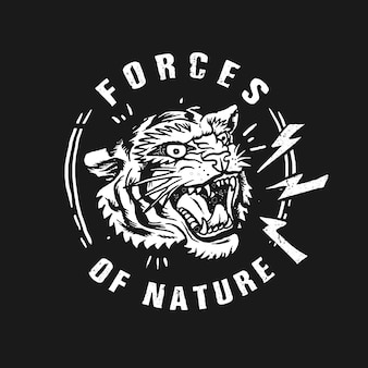 Tygrysie siły natury ilustraci wektor