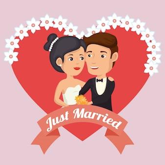 Tylko małżeństwo z sercami awatarów znaków