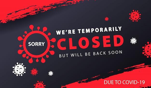 Tymczasowo zamknięty baner