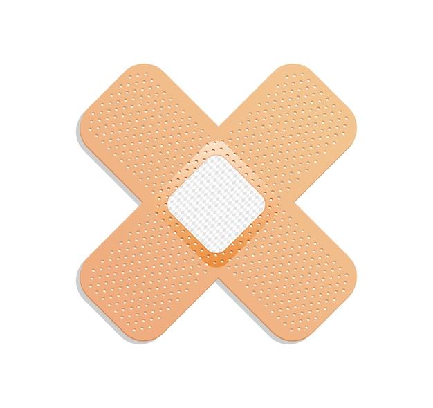 Tynk medyczny. bandaż samoprzylepny lub plaster samoprzylepny.